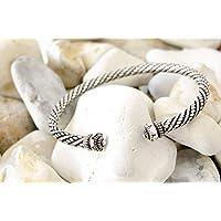 Sterling Silver Torque Bangle Adjustable Cuff Bracelet 30grams 925