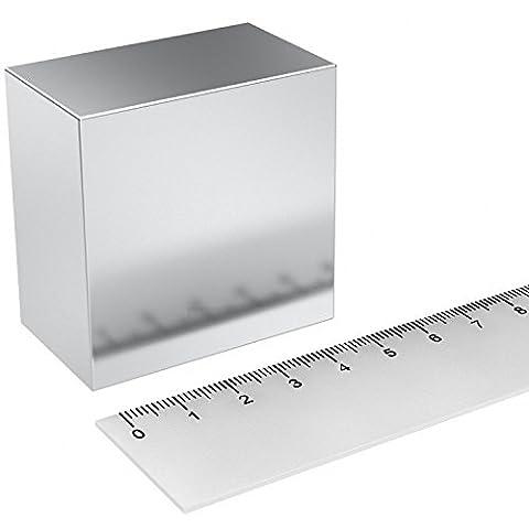 Super aimant Parallélépipède en néodyme 50x 50x 30mm. Puissance 225kg. Eau magnetizzata magnétothérapie Climsom