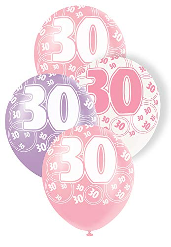 6 x 30th Birthday Party Balloons