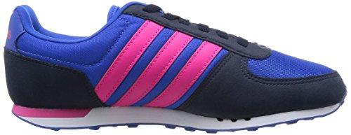 adidas City Racer W, Chaussures de Running Compétition Femme, Noir (Negbas / Ftwbla / Rosimp) Bleu / rose / noir (bleu / rose impact / bleu marine collégial)