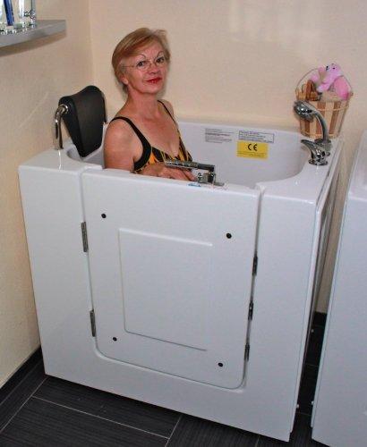 Senioren Sitzbadewanne Seniorenbadewanne Sitzwanne Badewanne mit Tür Pool A102WP