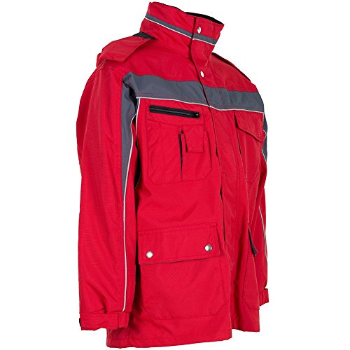 Plaline Arbeitskleidung Allwetterjacke rot/schiefer rot/schiefer
