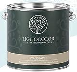 Lignocolor Wandfarbe Innenfarbe Deckenfarbe Kreidefarbe edelmatt 2,5 L (Arctic Blue)