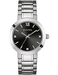 Bulova 96D124 - Reloj analógico de cuarzo para mujeres, correa de acero inoxidable, color plateado