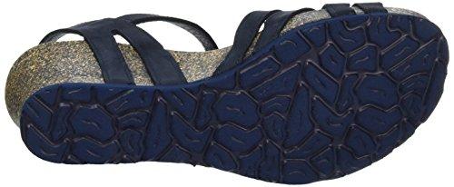 Panama Jack Ladies Vera Basics Open Sandali Con Zeppa Blu (navy)