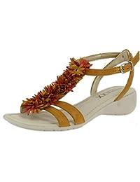 8212-198 MIMOSA/GINGER Scarpa donna sandalo basso The Flexx pelle giallo
