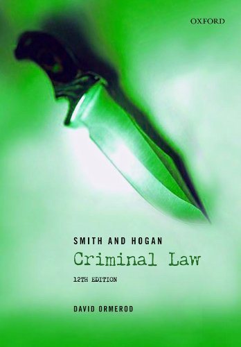 Smith and Hogan Criminal Law by David Ormerod (2008-07-24)