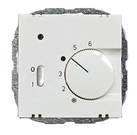 Raumtemperaturregler mit Ein/Aus-Schalter, für Busch-Jaeger balance-SI, Gira System 55, Berker S1, Merten M-Smart und Jung A 500 / CD 500