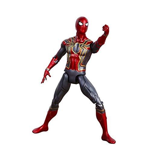 Mmhot Iron Spider-Man-Modell Handgefertigte Avengers Spider-Man-Wurm Dutch Brother Spielzeug Ornamente 16cm