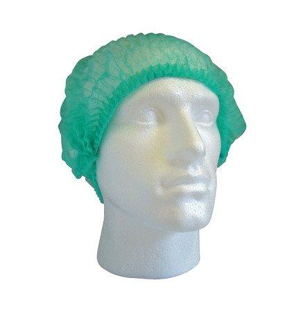 254x 53,3cm Einweg Mob Kappen/Haarnetze grün
