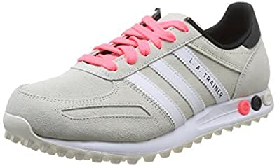 Adidas Originals La Trainer, Chaussons Sneaker Femme - Beige (off White/ftwr White/core Black), 40.67 EU