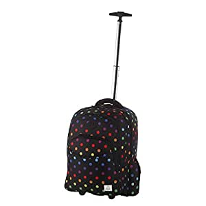 rada rucksack trolley rst2 50l rucksack mit rollen in verschiedenen farben color dots amazon. Black Bedroom Furniture Sets. Home Design Ideas