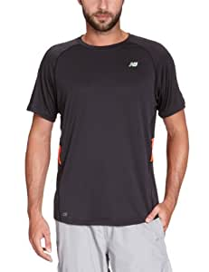 New Balance Herren T-Shirt X-Small schwarz - Noir/Vert/Orange