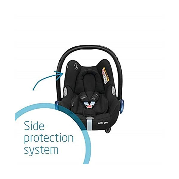 Maxi-Cosi CabrioFix Baby Car Seat Group 0+, ISOFIX, 0-12 Months, 0-13 kg, Frequency Black with Easyfix Car Seat Base, ISOFIX or Belted Installation for CabrioFix, 0-12 m, 0-13 kg Maxi-Cosi Optimal side impact protection: maxi-cost's side protection system technology features in the wings of the car seat to reduce the risk of injury in a side impact collision Click-and-go installation: quick and easy installation with any maxi-cosi base unit Used in combination with the Maxi-Cosi CabrioFix infant car seat 4