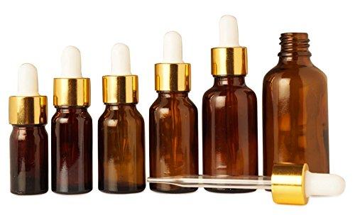10 ml vide verre ambré de pipette bouteille réutilisable bouteilles huiles d'aromathérapie de sérum de pipettes beaucoup de gros de 50 bouteilles de boston round