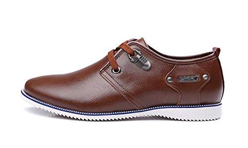 Homme Parti Derby Chaussures Automne Hiver Cuir Classique Déodorant Doux Chaussures À La Main Chaussures Bateau Black