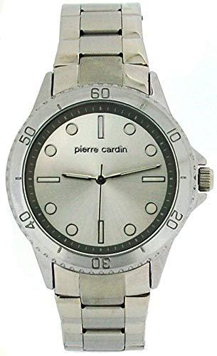Pierre Cardin W-007-01C - Orologio da polso da uomo, cinturino in metallo colore argento