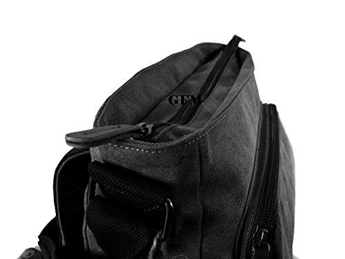 Seconds GFM -  Borsa Messenger classica in tessuto ideale per la scuola, per portare in  ufficio, in viaggio - Stile casual Large - #45NL - Blue