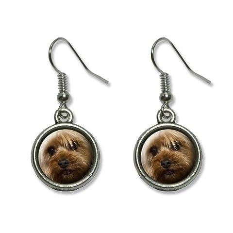 Yorkshire Terrier Yorkie Dog Novelty Dangling Dangle Drop Charm Earrings