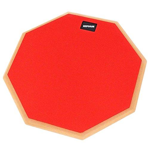 KEEPDRUM DP-RD12 Drum Practice Pad Rot Übungspad 12 Zoll