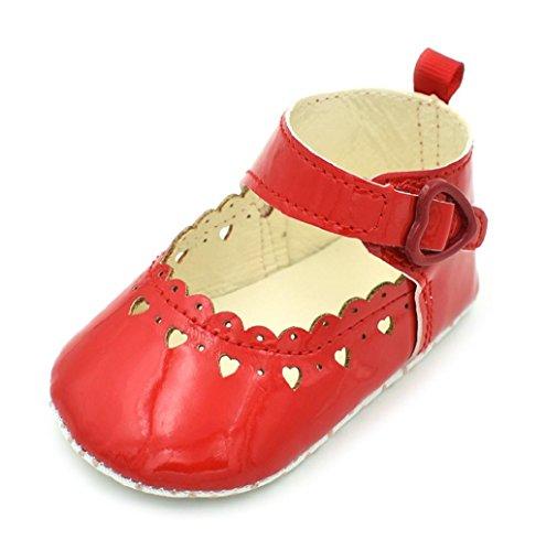 Rosennie Baby Mädchen Weich Soled Anti-Rutsch Fußbekleidung Aushöhlen Schuhe Rot