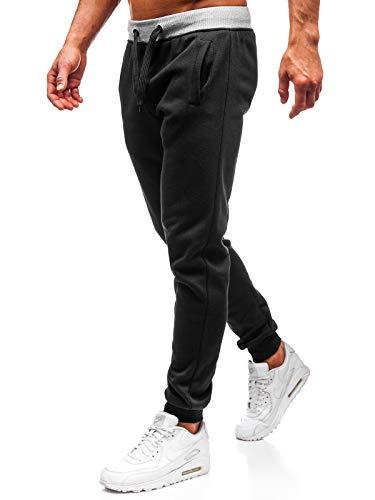 Bolf pantaloni sportivi - cotone - di tuta - jogger - sportivi - da uomo j.style ak11-1 neri l [6f6]