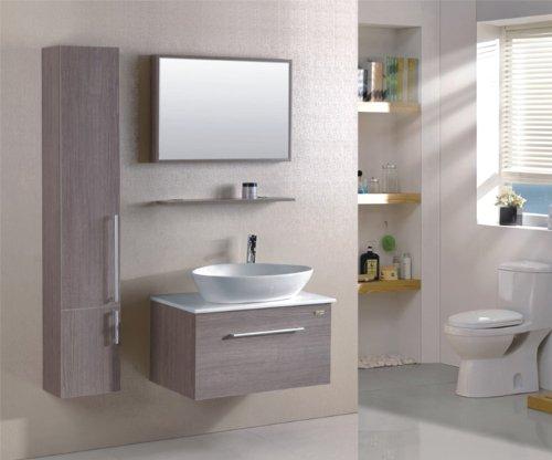 Badmöbel Set mit Waschbecken, Holzoptik