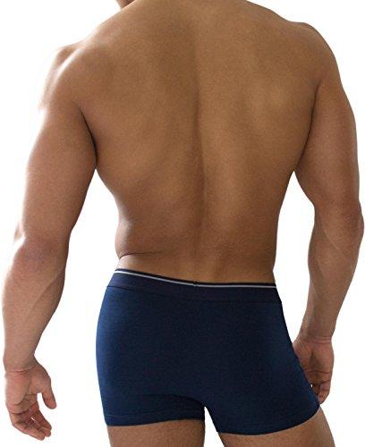 6 x Retro Boxershorts sportiv, aus Baumwolle mit 5% Elasthan Marine