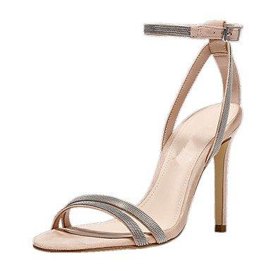 LQXZM Sandales femmes D'Orsay Deux-pièces en simili cuir Chaussures formelle de l'été Fête de mariage &AMP; tenue de soirée formelle en deux pièces d'Orsay ShoesBuckle Beige