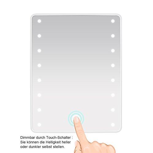 Wawoo Make-up-Spiegel, LED Beleuchtung, Dimmbar durch Touch-Schalter - 9