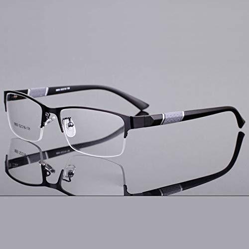 YMTP Halbrand Legierungs Frontfelge Flexible Plastikbeine Optisches Brillen Rahmen Für Männer Und Frauen Eyewear (Flexible Brillengestelle)