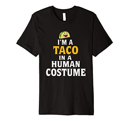 Funny Halloween Shirt–Taco in ein Menschliches Kostüm Tshirt