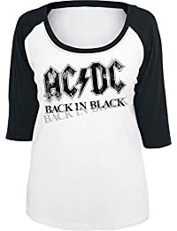 AC/DC Back In Black Manches longues blanc/noir