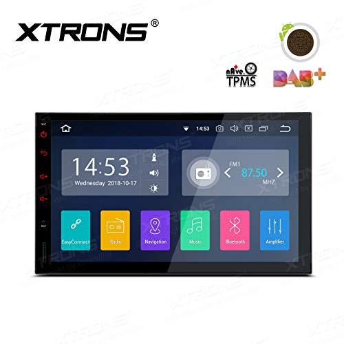 "XTRONS Android 8.1 Universal Car Stereo 7\"" HD Digital Multi-Touch Pantalla Bluetooth Unidad de Cabezal de Coche Radio Multimedia Reproductor Soporta WiFi GPS Full RCA Salida 1080P Video OBD Dab+"