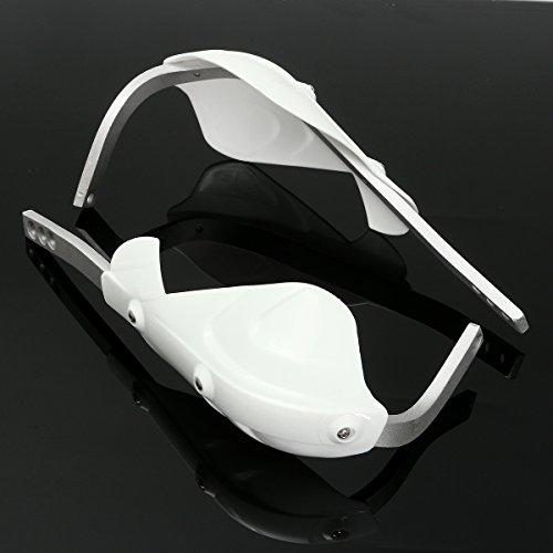 GOZAR 22Mm 7/8Cm Universal Handguards Hand Guard Protektoren Motorradmotor Bike Dirt N- Weiß