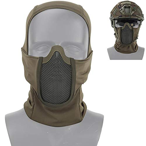 FOONEE Airsoft Masken, 2019 Neue Sturmhaubenmaske Stahlmaske, Airsoft Zubehör Schutzmaske Für Airsoft/Paintball/CS Spiel/Jagd/Schießen