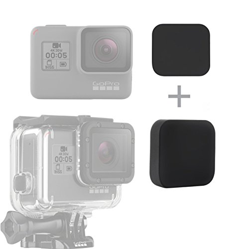 SOONSUN Silikon Objektivschutzkappen-Set für GoPro Hero5 Hero 5 6 Kamera und Gehäuse (Inklusive 2 Stück Objektivkappen für Hero5 6 Kamera und Gehäuse) Lens Cap Cover