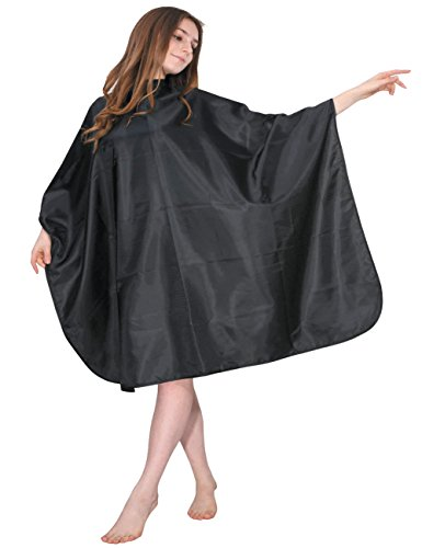 wm-beauty-50-x-57-classic-water-repellent-adjustable-salon-hair-cutting-cape-with-snaps-closure-blac
