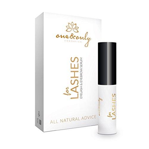 One&Only Cosmetics for Lashes Eyelash & Eyebrow Serum 9 ml, Wimpernserum und Augenbrauenserum für die Revitalisierung, Pflege-Serum für starke, dichte Wimpern & Augenbrauen, effektive Wimpernpflege