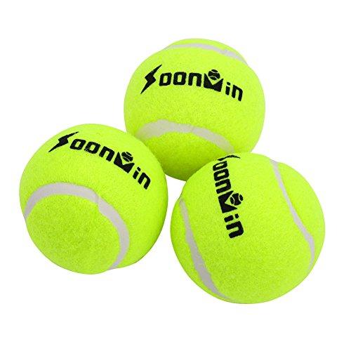 Alomejor 3 Stücke Tennisball Fluoreszierende Gelbe Prctice Bälle für Spaß Tennis - - Tennisbälle Hund