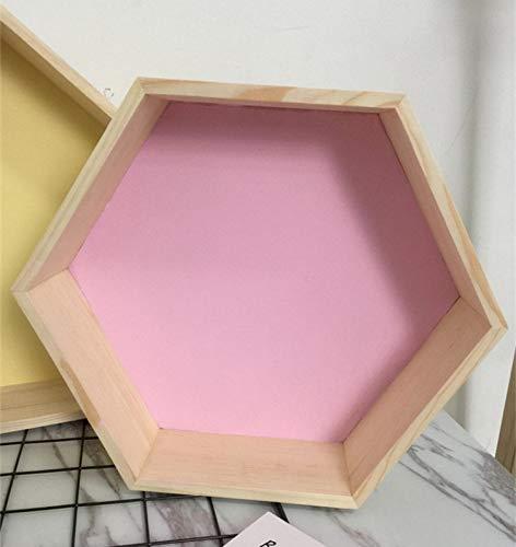 Scaffalebaby room legno esagonale mensola deposito serbatoio decorazione candy organizzazione gancio foto prop mensola storage decorazione