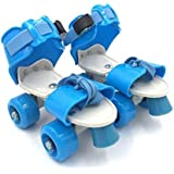 Hebrik™ Roller Skates for Kids Age Group 4-12 Years Adjustable Inline Skating Shoes with School Sport - Multi Color
