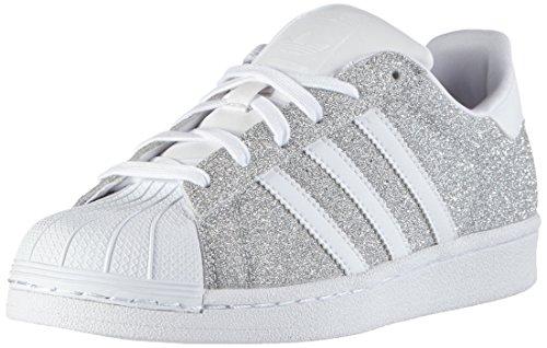 adidas Damen Superstar Sneakers, Silber (Silver Met./Silver Met./Ftwr White), 39 1/3 EU