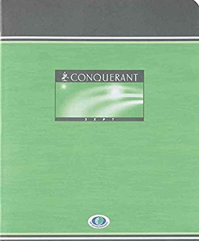 CONQUÉRANT Lot de 10 Cahiers de brouillon 17 x 22 cm 48 pages 56g Séyès Grands Carreaux