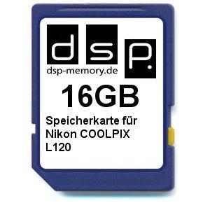 DSP Memory Z-4051557367524 16GB Speicherkarte für Nikon COOLPIX L120
