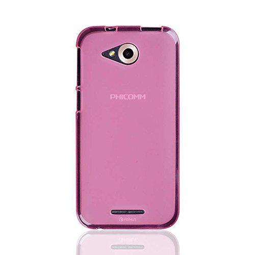 caseroxx TPU-Hülle für Phicomm Clue M, Tasche (TPU-Hülle in pink)