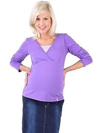 Be Mama! 2in1 Umstandsshirt, Stillshirt, hochwertige Baumwolle, Modell: FREE, lang- oder kurzärmlig!