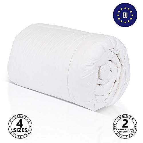 Amazinggirl 135x200 cm Ganzjahresdecke Extra Warm Bettdecke allergiker Steppdecke Weiß hypoallergen aus Microfaser Steppbett perfekt für Kinder Baby