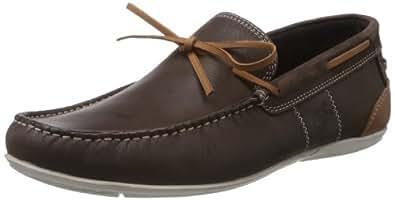Buckaroo Men's Katya B Brown Leather Boat Shoes - 9 UK