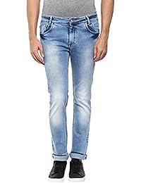 Mufti Mens Light Blue Narrow Fit Mid Rise Jeans